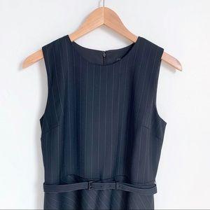 Ann Taylor black pinstripe sleeveless dress NEW